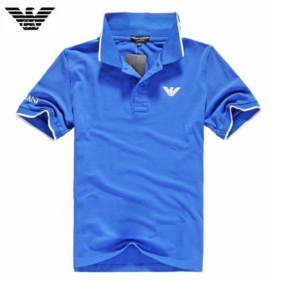5f5f04232a Camisa Pólo Armani Mens Azul