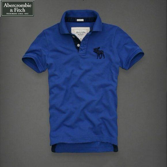 Camisa Pólo Masculina Abercrombie   Fitch Alce Azul - Loja de Grifes ... f378fd6f884c8