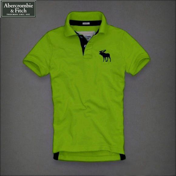 b5207322c6 Camisa Pólo Masculina Abercrombie   Fitch Alce Verde - Loja de ...