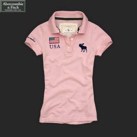 79fff68716 Camisa Pólo Feminina Abercrombie   Fitch Rosa USA - Loja de Grifes ...