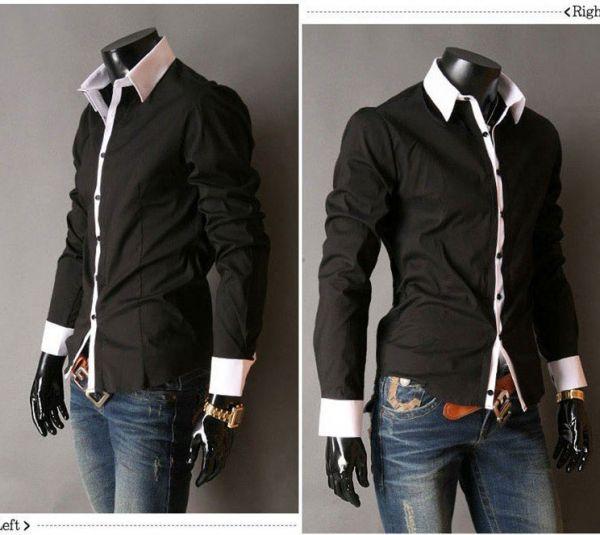 Camisa Social Masculina Luxo Slim Fit Preta - Loja de Grifes Camisas ... 56c1a5c50b4d5