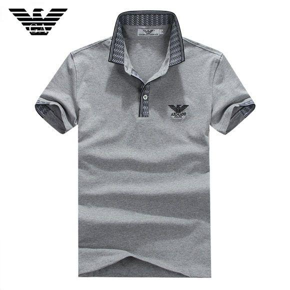 Camisa Pólo Armani EA7 Jeans Mens Cinza - Loja de Grifes Camisas ... 5ef6d6fd3ac29